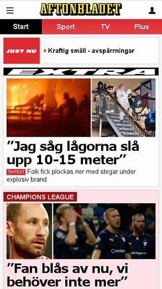 Mobile preview of wwwc.aftonbladet.se