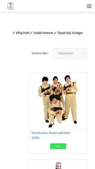 Mobile preview of 80talskläder.com