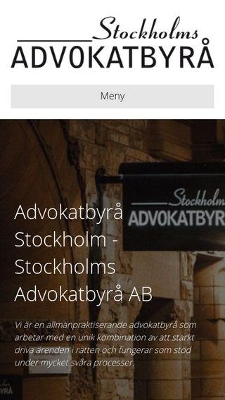 Mobile preview of advokatbyråstockholm.nu