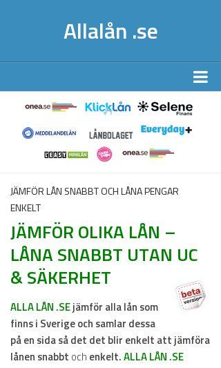 Mobile preview of allalån.se