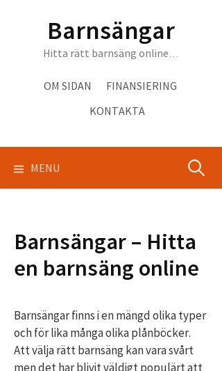 Mobile preview of barnsängar.nu