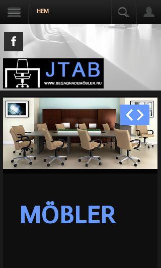 Mobile preview of begagnademöbler.nu