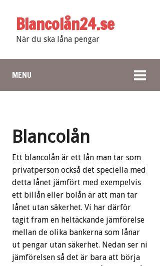 Mobile preview of blancolån24.se