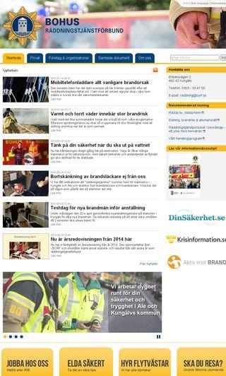 Mobile preview of bohusräddningstjänstförbund.se