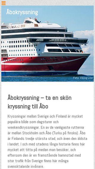 Mobile preview of åbokryssning.se