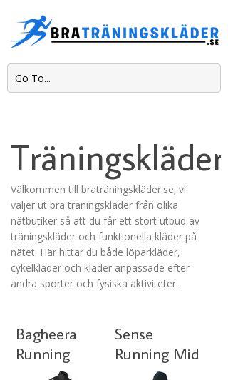 Mobile preview of braträningskläder.se
