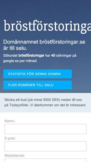 Mobile preview of bröstförstoringar.se