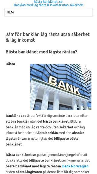 Mobile preview of bästabanklånet.se