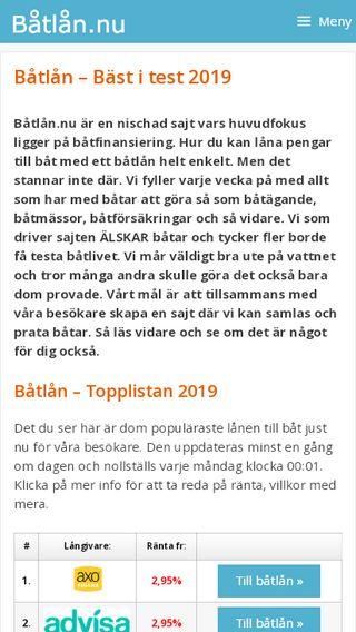 Mobile preview of båtlån.nu