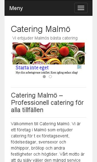Mobile preview of cateringmalmö.se