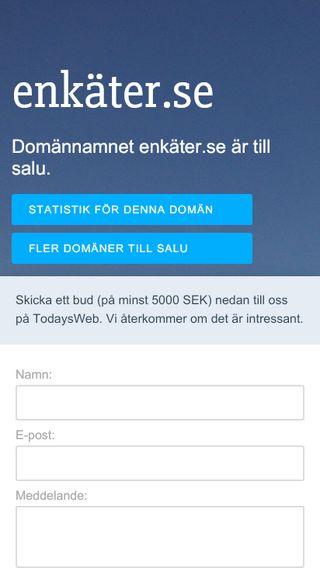 Mobile preview of enkäter.se