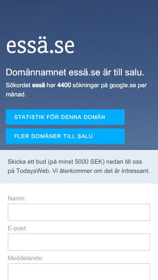 Mobile preview of essä.se