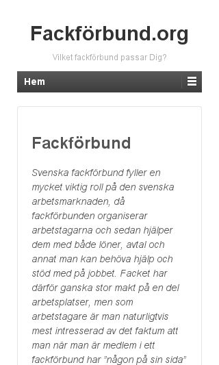 Mobile preview of fackförbund.org