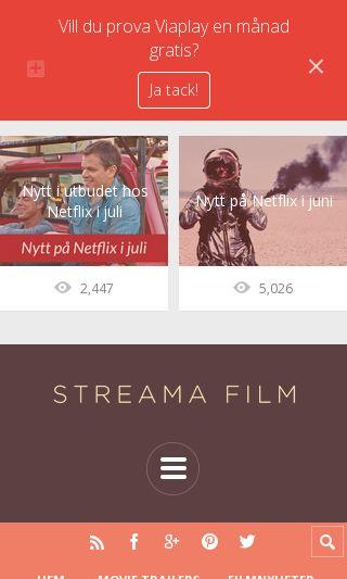 Mobile preview of filmpånätet.com