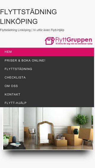 Mobile preview of flyttstädlinköping.nu