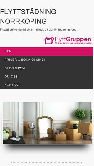 Mobile preview of flyttstädningarnorrköping.se