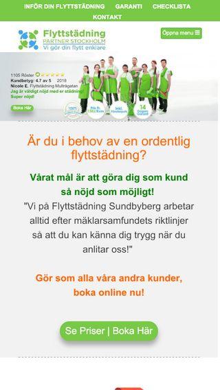 Mobile preview of flyttstädsundbyberg.se