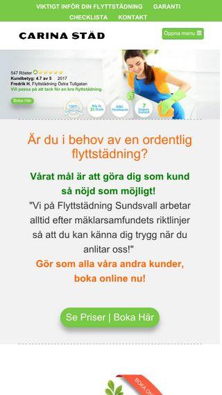 Mobile preview of flyttstädsundsvall.nu