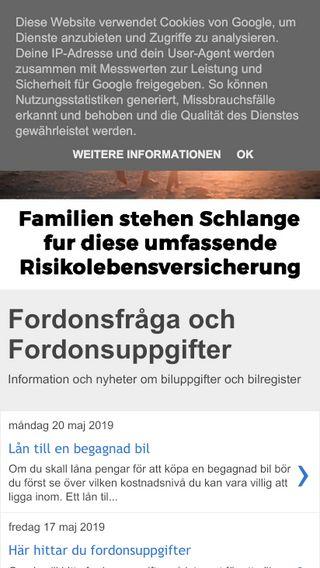 Mobile preview of fordonsfråga.se