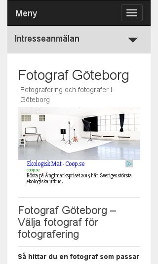 Mobile preview of fotografgöteborg.se