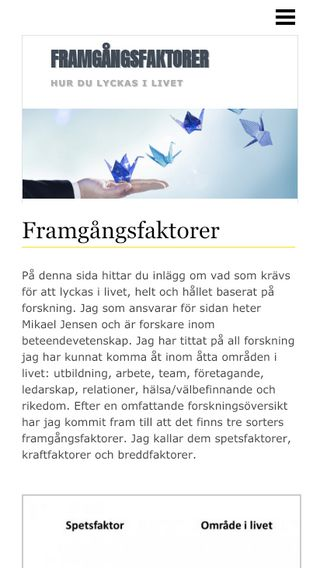 Mobile preview of framgångsfaktorer.com