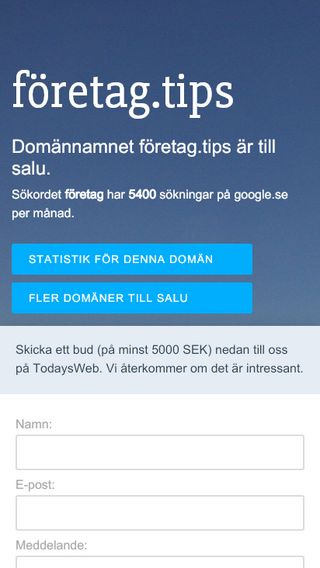 Mobile preview of företag.tips