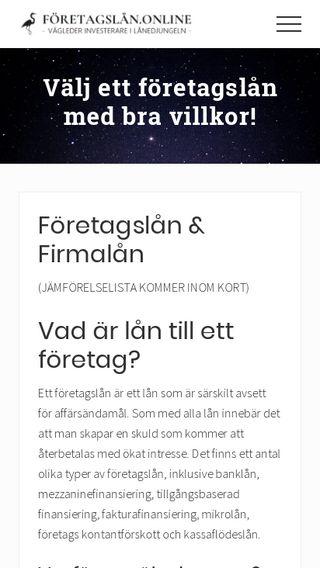 Mobile preview of företagslån.online