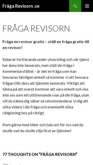 Mobile preview of frågarevisorn.se