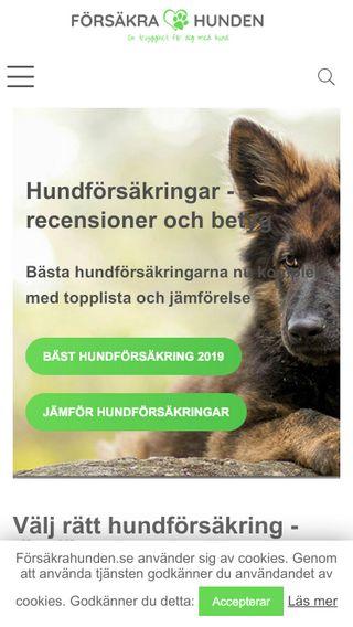 Mobile preview of försäkrahunden.se