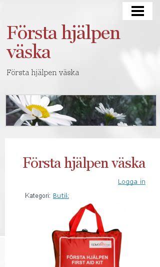 Mobile preview of förstahjälpenväska.nu