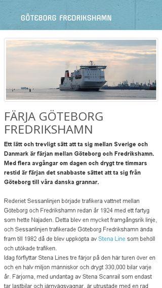 Mobile preview of göteborgfredrikshamn.nu