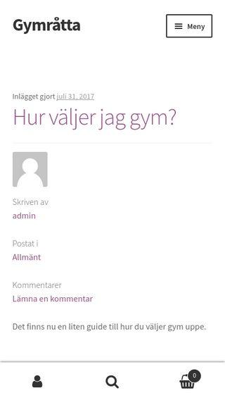 Mobile preview of gymråtta.se