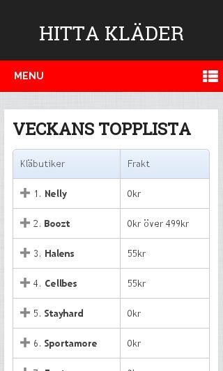 Mobile preview of hittakläder.se