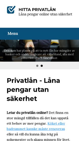 Mobile preview of hittaprivatlån.nu