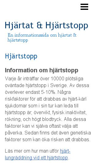 Mobile preview of hjärtstopp.eu