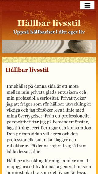 Mobile preview of hållbarlivsstil.se