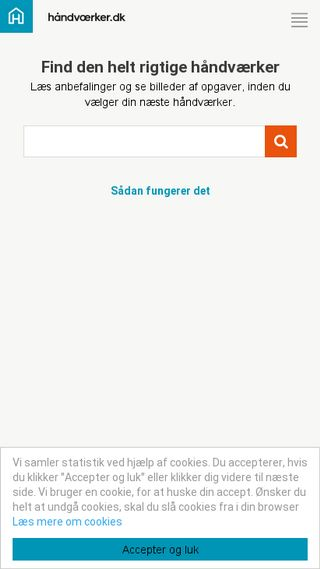 Mobile preview of håndværker.dk