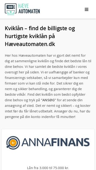Mobile preview of hæveautomaten.dk