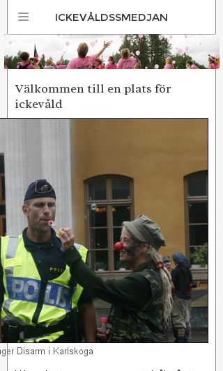 Mobile preview of ickevåld.se