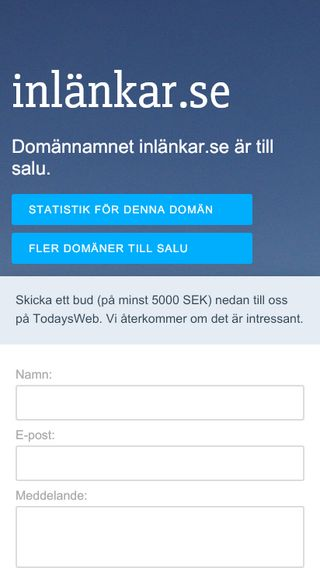 Mobile preview of inlänkar.se
