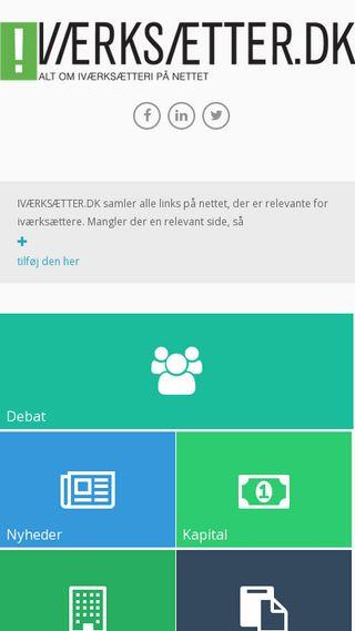Mobile preview of iværksætter.dk