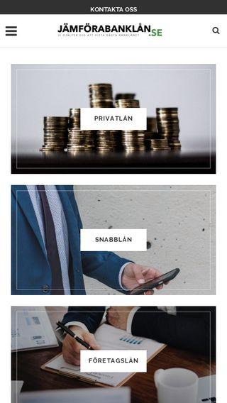 Mobile preview of jämförabanklån.se