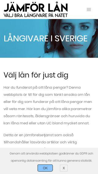 Mobile preview of jämförlån.online