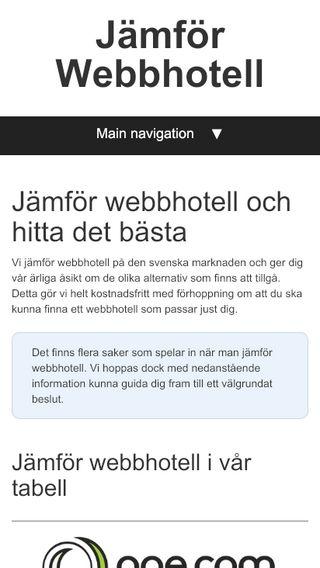 Mobile preview of jämförwebbhotell.se