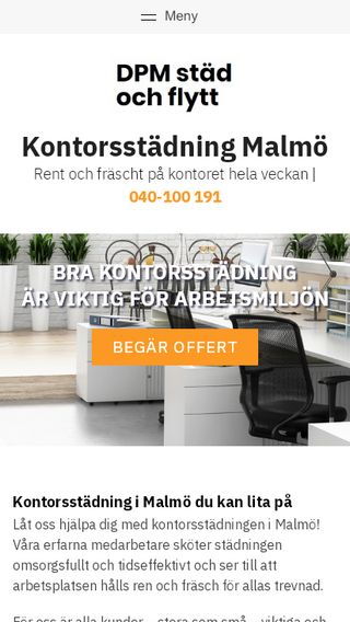 Mobile preview of kontorsstädningmalmö.nu