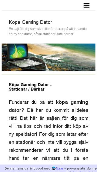 Mobile preview of köpa-gamingdator.se