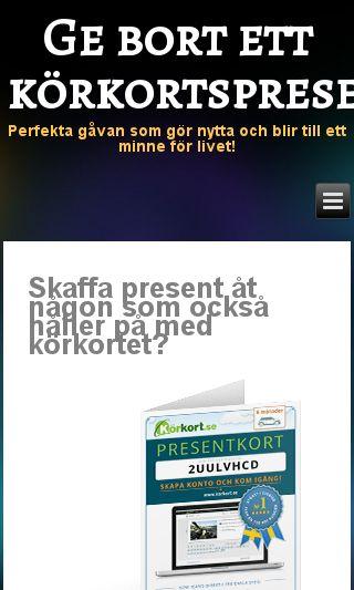 Mobile preview of körkortpresentkort.se