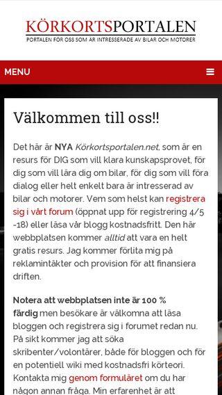 Mobile preview of körkortsportalen.net