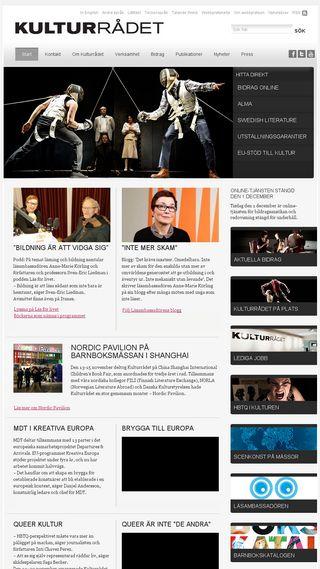 Mobile preview of kulturrådet.se