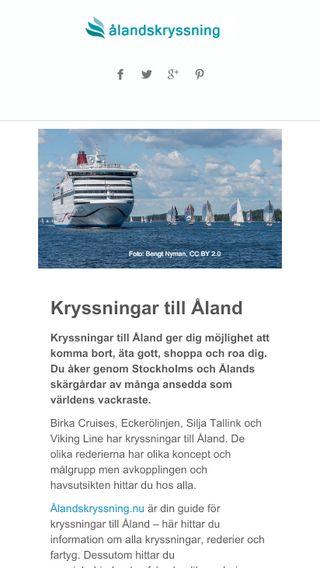 Mobile preview of ålandskryssning.nu